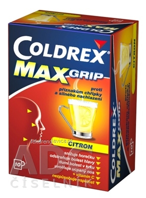 COLDREX MAXGRIP LEMON 1X10 VRECÚŠOK