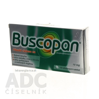 BUSCOPAN 10 MG TABLETY 1X10 KS