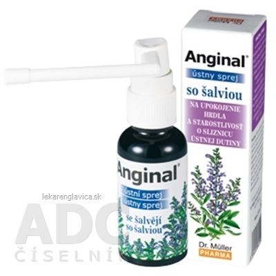 DR. MÜLLER ANGINAL ÚSTNY SPREJ SO ŠALVIOU 1X30 ML