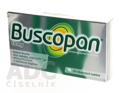 BUSCOPAN 10 MG TABLETY 1X20 KS