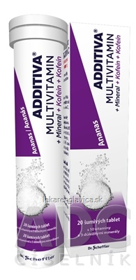 ADDITIVA MULTIVITAMÍN + MINERÁL + KOFEIN SUMIVE TABLETY 1X20 KS