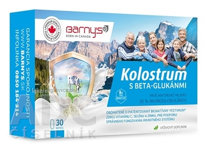 BARNYS KOLOSTRUM S BETA-GLUKANMI + DARCEK         1SET CPS 1X30 KS + DARCEK 1KS, 1X1 SET
