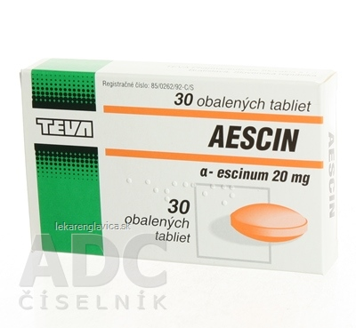 AESCIN Tablety 20 MG 1X30 KS