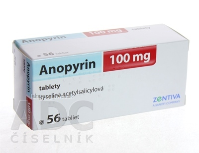 ANOPYRIN 100 MG TABLETY 56X100 MG