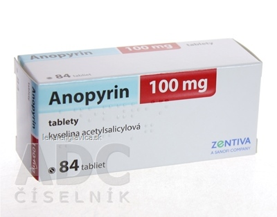 ANOPYRIN 100 MG TABLETY 84X100 MG