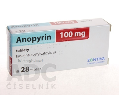 ANOPYRIN 100 MG TABLETY 28X100 MG