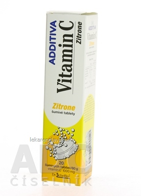 ADDITIVA VITAMÍN C 1000 MG CITRON SUMIVE TABLETY 1X20 KS