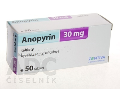 ANOPYRIN 30 MG TABLETY 50X30 MG