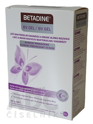 BETADINE BV GEL 1SET VAGINALNY GEL 40 G + 7 APLIKATOROV, 1X1 SET